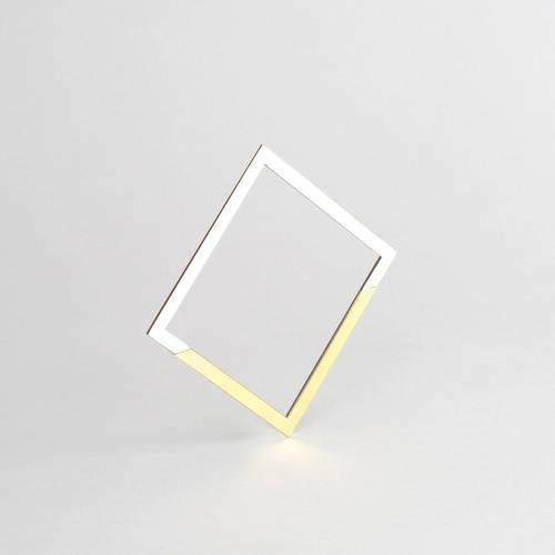 Form Square Bangle Brass & Grey