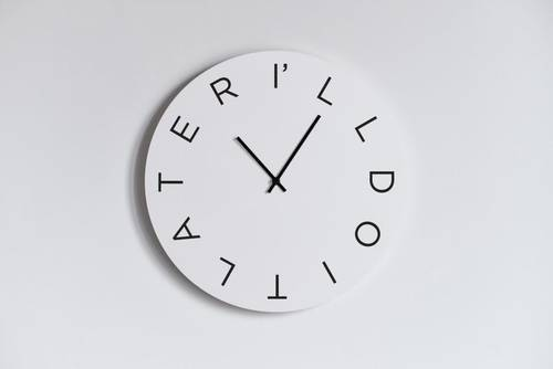 I'll Do it Later wall clock