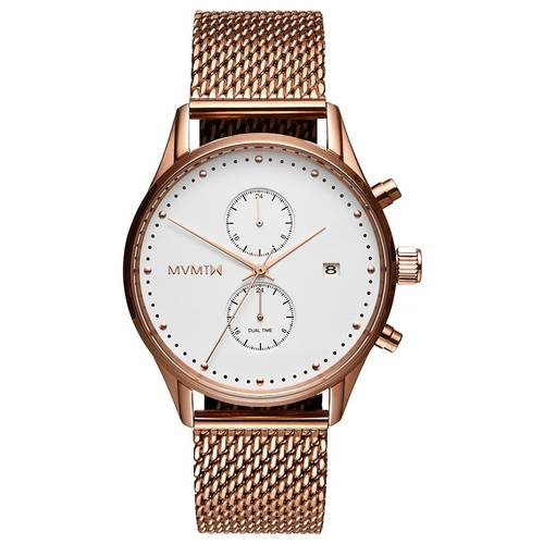 White Rose Gold MVMT Watch