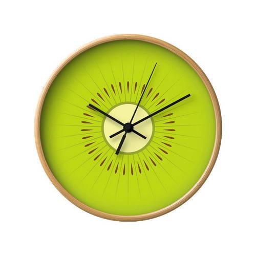 Kiwi fruit wall clock.