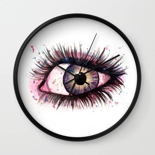 Cosmic Eye Wall Clock