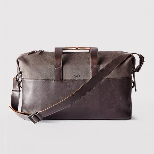 The Twill/Leather Weekender Bag