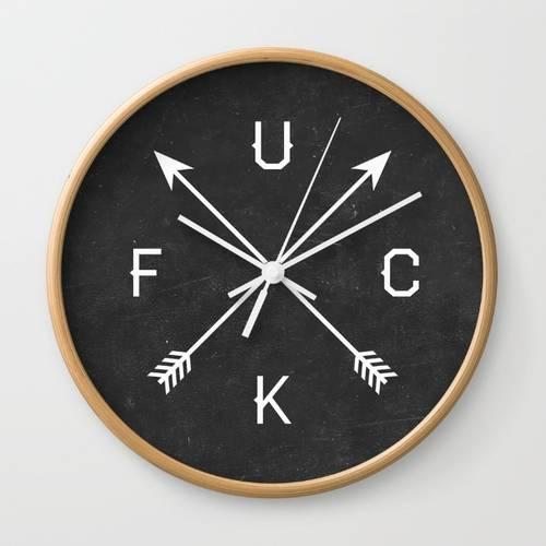 F U C K Wall Clock