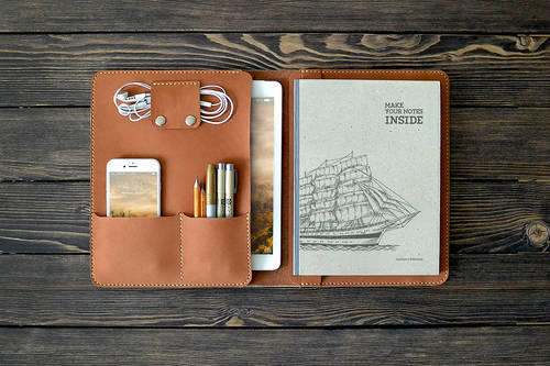 iPad leather document organizer