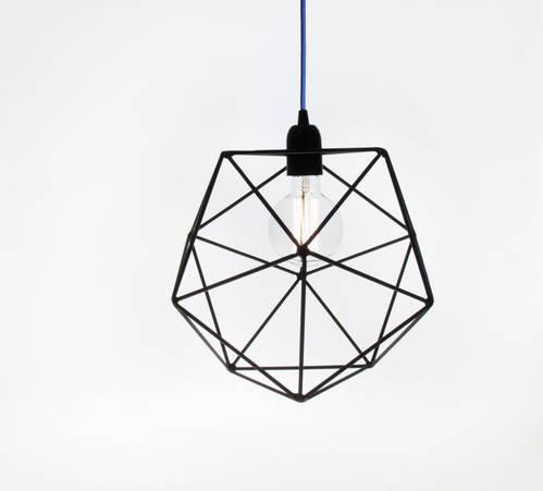 Acqua Icosahedron Outline Lamp
