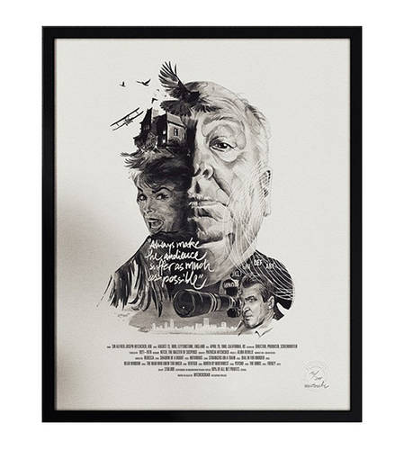 Alfred Hitchcock Portrait Print