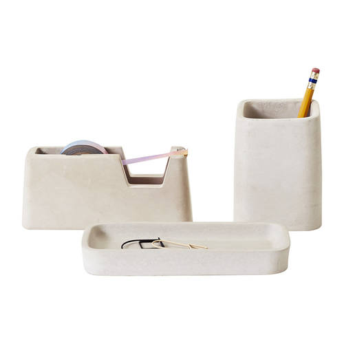 Magnus Pettersen Concrete Desk Set