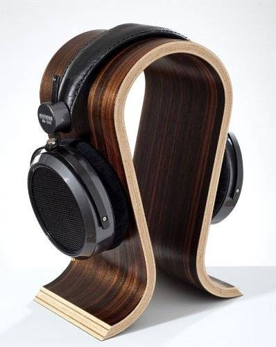 Wooden Omega Headphones Stand