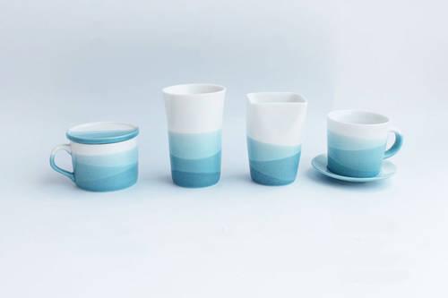 Blue Ocean Ceramic Coffee Mug set