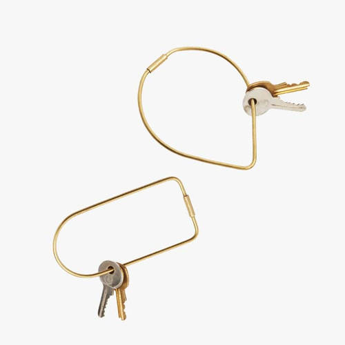 Contour Brass Key Ring