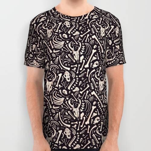 Buried Bones All Over Print Shirt