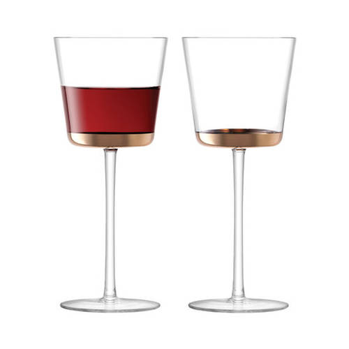 Edge Red Wine Glass - Rose Gold