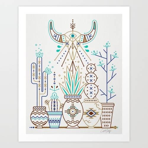 Santa Fe Garden Art Print