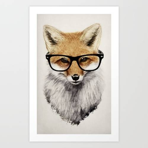 Mr. Fox Art Print