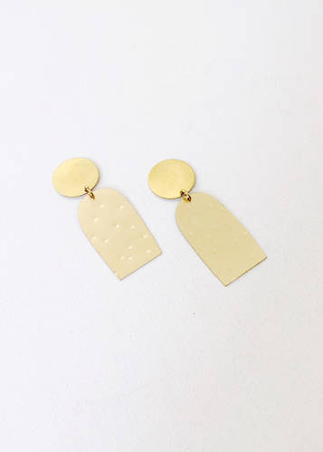 Brass Cacti Earrings