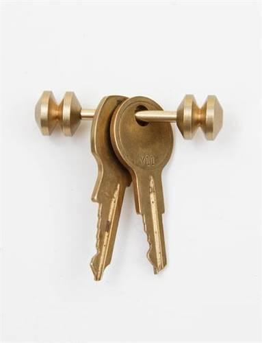 Postalco Abacus Totem Key Holder - Gold