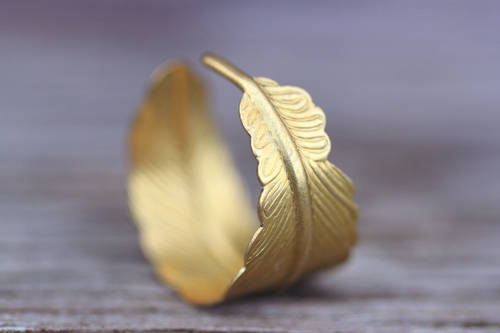 Bohemian feather ring