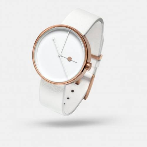 Eclipse Rose Gold White Watch