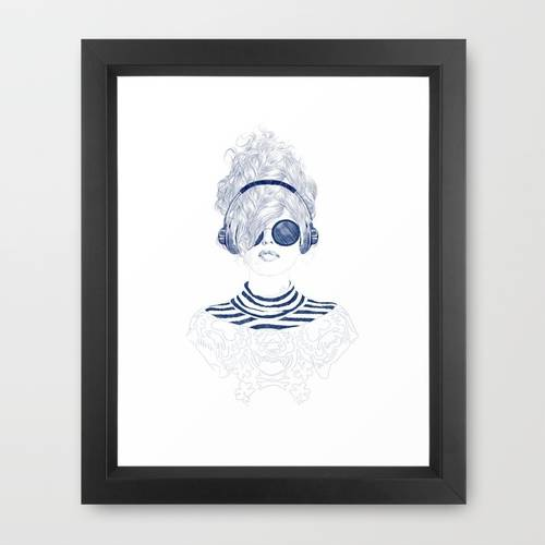 Groove Baby Framed Art Print