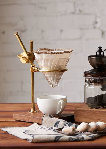 Wood + Glass Pourover Coffee Brewer