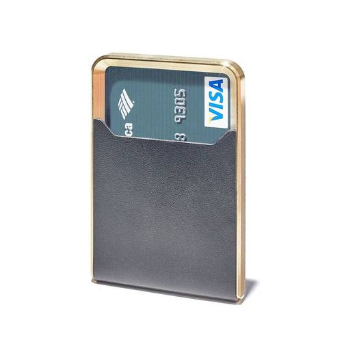 Slim Minimalist Brass Wallet
