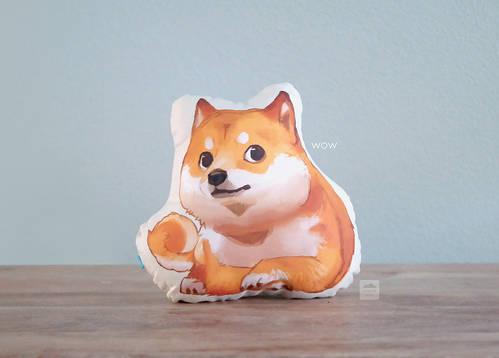 DOGE Shiba Inu Pillow (wow)