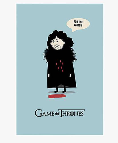 Jon Snow - Minimalist Poster