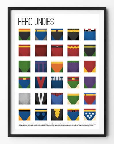Superhero Undies Poster