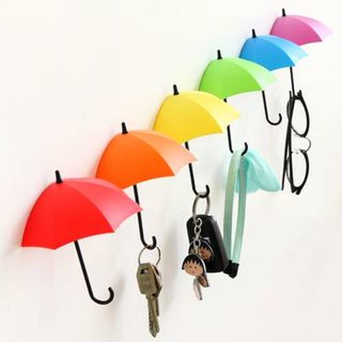 Set of 3: Umbrella Wall Hooks