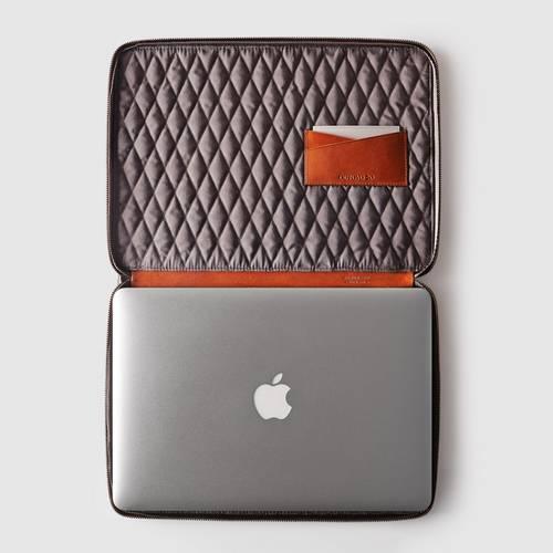 The Mac Folio Case in Italian Leather