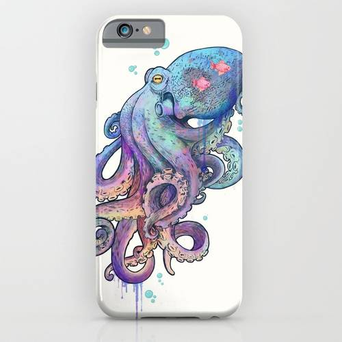 Psychedelic Octopus iPhone & iPod Case