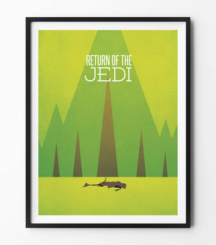 Star Wars Minimalist Poster - Return of the Jedi