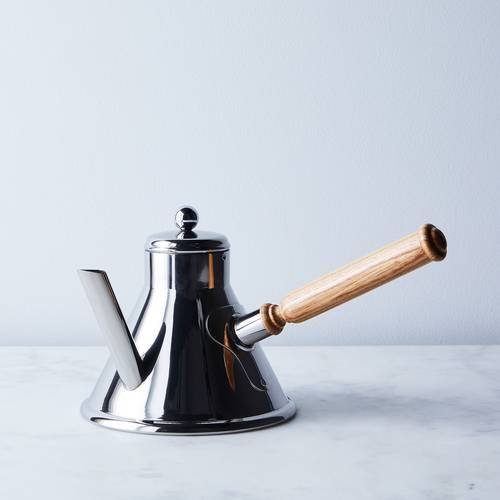 Mauviel M'Tradition Coffee Pot with Wood Handle