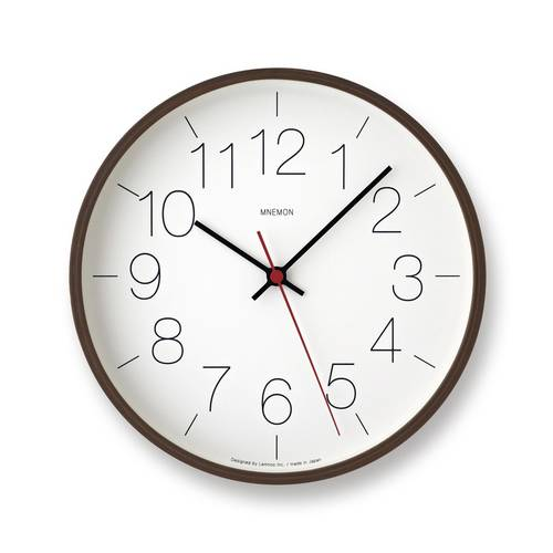 """Mnemon"" wall clock - brown"