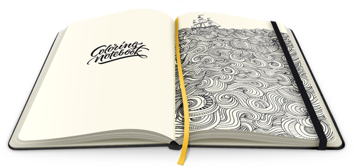 First Paper Notebook with Coloring Pages for Adults