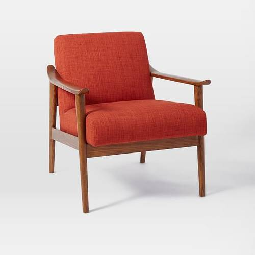 Mid-Century Wood Upholstered Chair