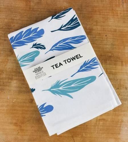 Feather Print Kitchen Towel