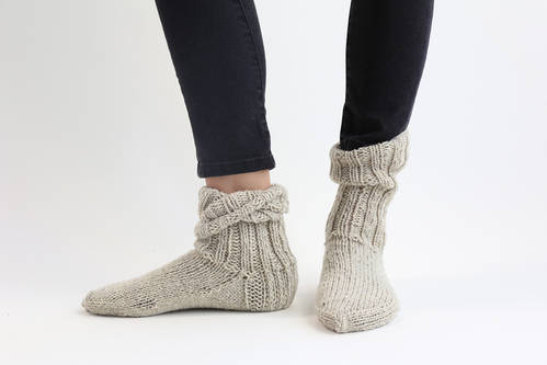 Handmade Natural Wool Socks