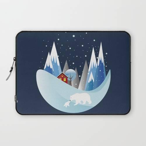 Snowing Boubble Laptop Sleeve