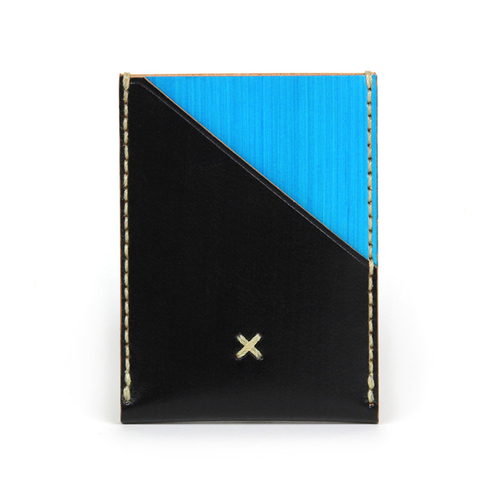 Leather Wallet Portrait Blue