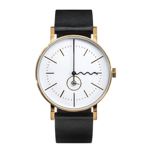 Tide - gold & black watch