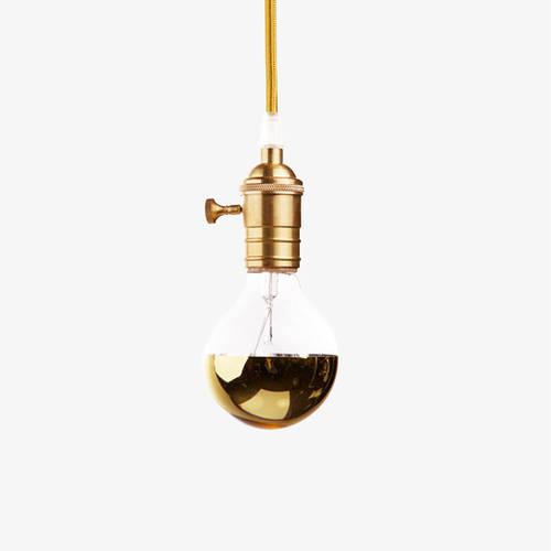 Gold Mirrored Globe Bulb