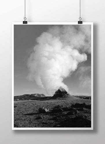 Grey scale photo landscape print